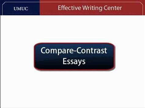 Compare and Contrast Essay Writing - EssayMasterscouk